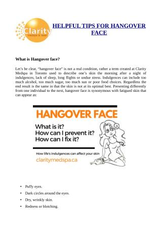 Hangover-face tips