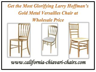 Get the Most Glorifying Larry Hoffman's Gold Metal Versailles Chair at Wholesale Price