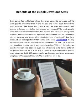 Benefits of the Free eBook Download Sites