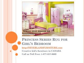 Princess Series Rug for Young Girl's Bedroom in Canada