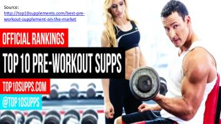 Top 10 Pre Workout Supplements - Best of 2016