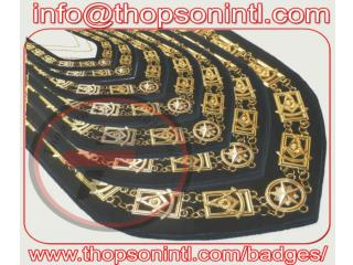 Masonic Lodge Past Master chain collar