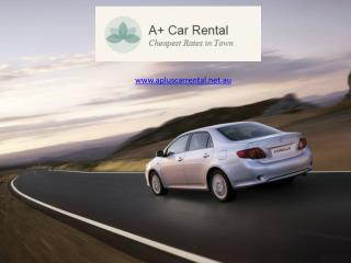 Cheap car rental melbourne - A Plus Cars Rental