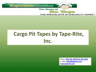Slideshow: Cargo Pit Tape by Tape-Rite, Inc
