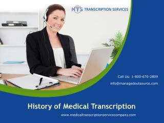 History of Medical Transcription