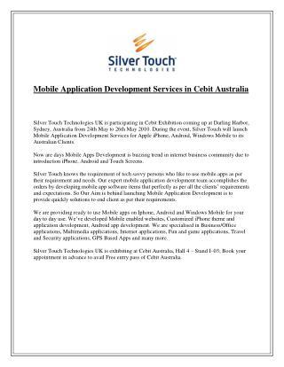 Mobile Application Development Services in Cebit Australia