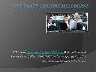 corporate car hire melbourne