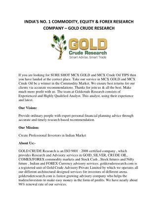 Crude Oil tips, MCX market tips