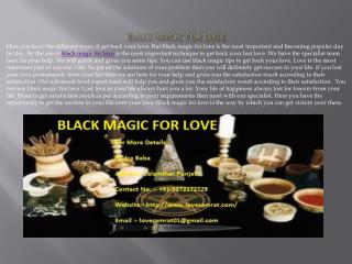 Black Magic For Love In India
