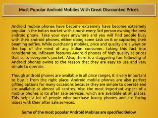 Most Popular Android Mobiles With Great Discounted Prices