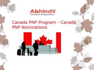 Canada PNP Program- Canada PNP Nominations