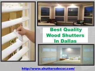 Best Quality Wood Shutters In Dallas