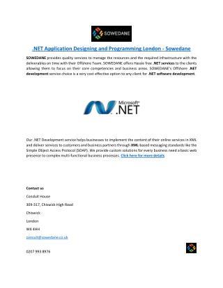 .NET Application Designing and Programming London - Sowedane