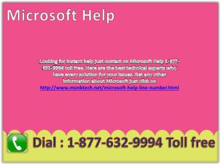 Microsoft Help !!%!! 1-877-632-9994 Toll Free Number