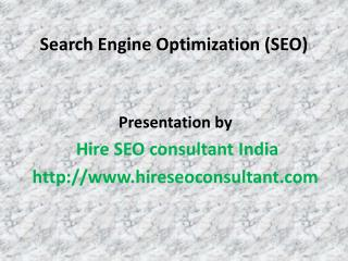Hire full time seo consultant India