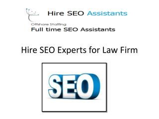 Law Firm Web Site SEO