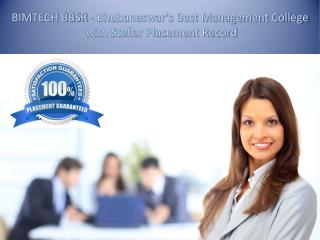 BIMTECH BBSR - Bhubaneswar's Best Management College with Stellar Placement Record