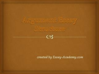 Argument Essay Structure