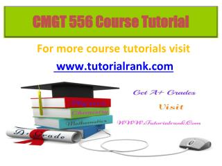 CMGT 556 Potential Instructors / tutorialrank.com