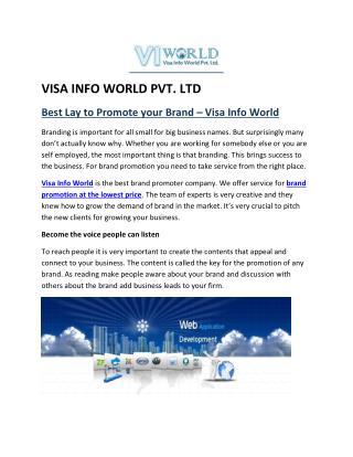 SMO company in Noida  India-visainfoworld.com