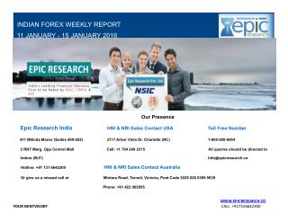 Epic Research Weekly Forex Report 11 Jan 2016