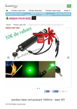 pointeur laser vert puissant 1000mw - laser 301