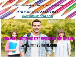MTH 231 Nerd eaching effectively/mth231nerddotcom