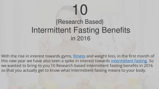 10 {Research Based} Intermittent Fasting Benefits in 2016