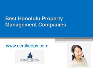 Best Honolulu Property Management Companies - www.certifiedps.com
