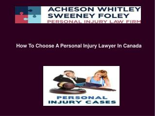 Personal Injury Lawyer Canada
