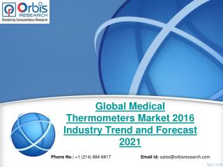 Global Medical Thermometers  Market Report: 2016 Edition