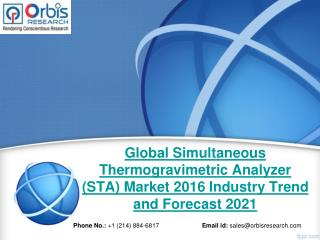 2016-2021 Global Simultaneous Thermogravimetric Analyzer (STA)  Market Trend & Development Study