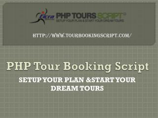 Features of Tour Booking Script
