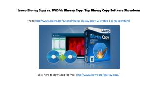 Leawo Blu-ray Copy vs. DVDFab Blu-ray Copy: Top Blu-ray Copy Software Showdown