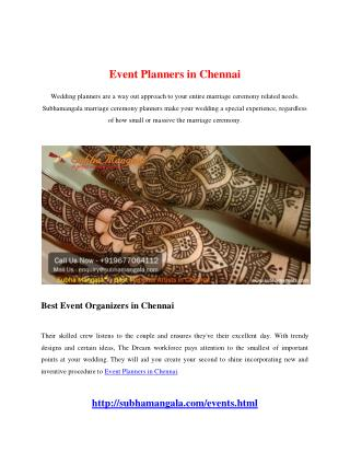 Event Planners in Chennai