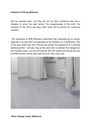 Commercial flooring and water damage carpet melbourne