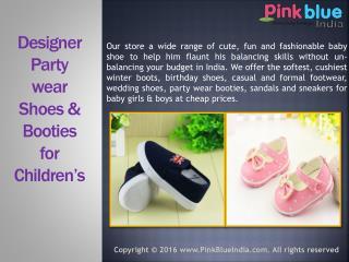 Stylish Designer Wedding Shoes for Children in India
