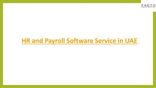 HR and Payroll Software Service in UAE.