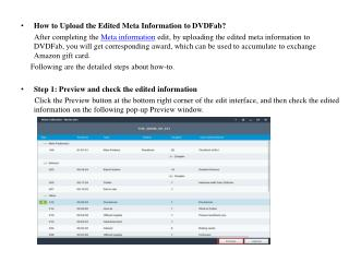 How to Upload the Edited Meta Information to DVDFab