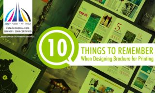 10 Things To Remember When Designing Brochures For Printing.