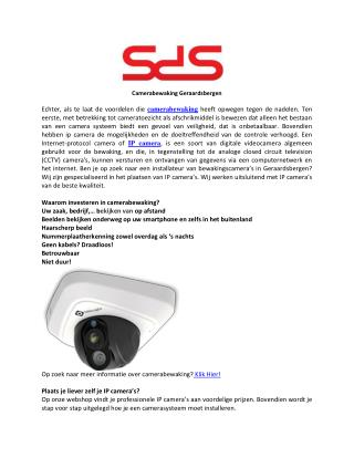 IP Camera's Hebben De Effectiviteit Van Cameratoezicht Vergroot