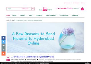 A Few Reasons to Send Flowers to Hyderabad Online