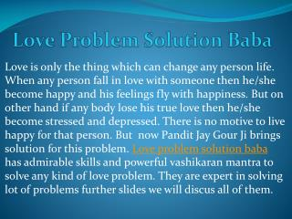 Love Problem Solution Baba