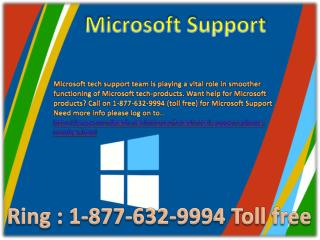Microsoft support @##@ 1-877-632-9994 Toll free Number