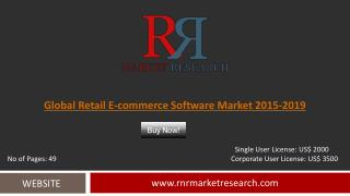 Retail E-Commerce Software Market 2019 Outlook in New Research Report