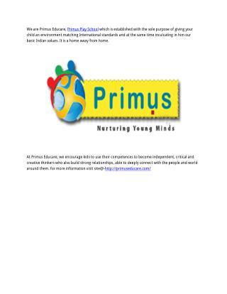 Primus Play School