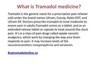 Relieve your pain affliction with Tramadol