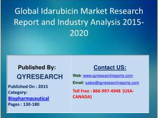 Global Idarubicin Market 2015 Industry Growth, Outlook, Development and Analysis