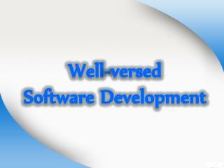 Well-versed Software Development