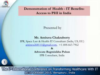 Demonstration of Health - IT Benefits: Access to PHI in India